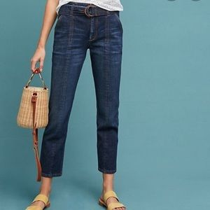 Anthropologie Pilcro High Waisted Belted Jeans